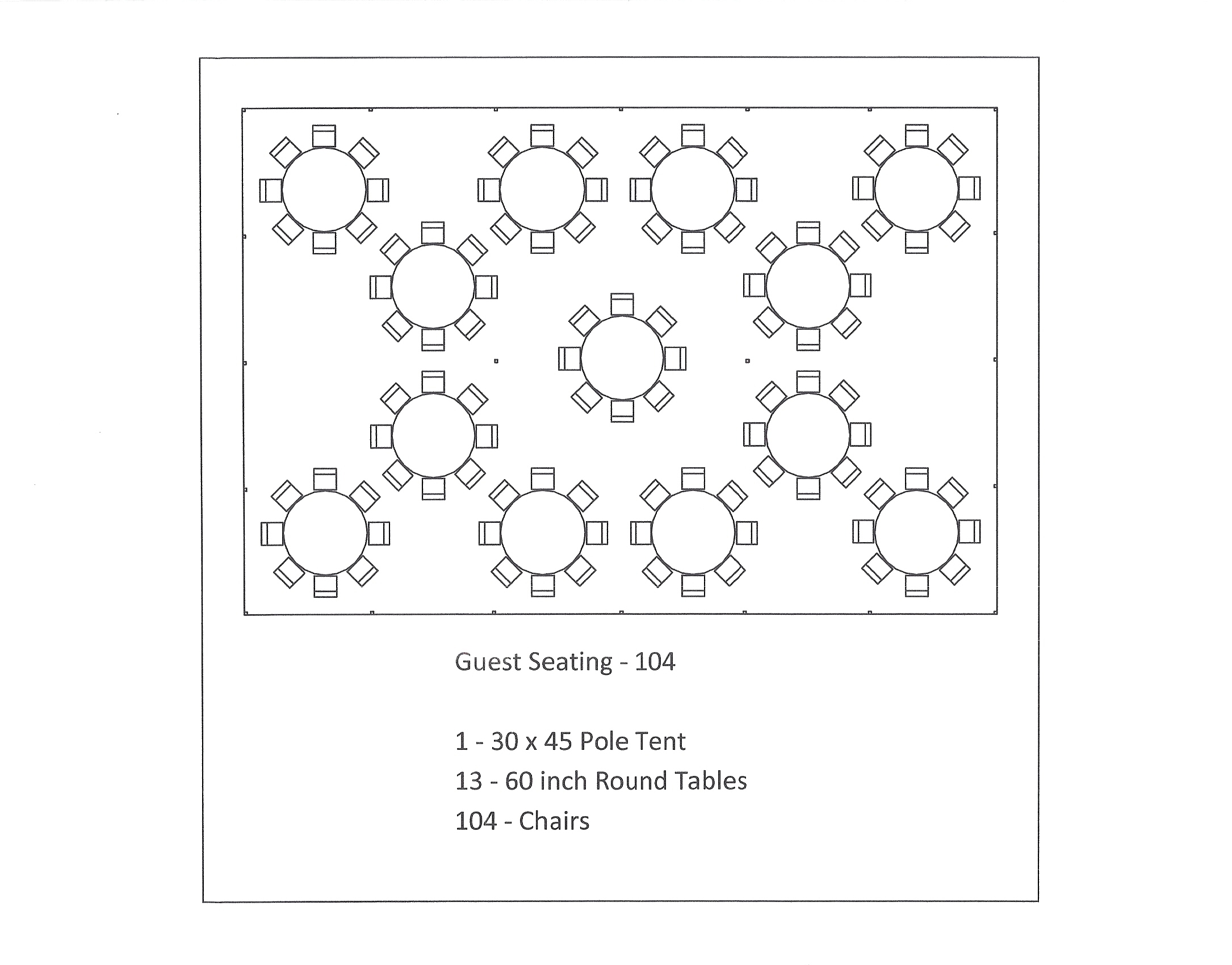 30 x 45 pole tent seating arrangements for 12 rules of the round table